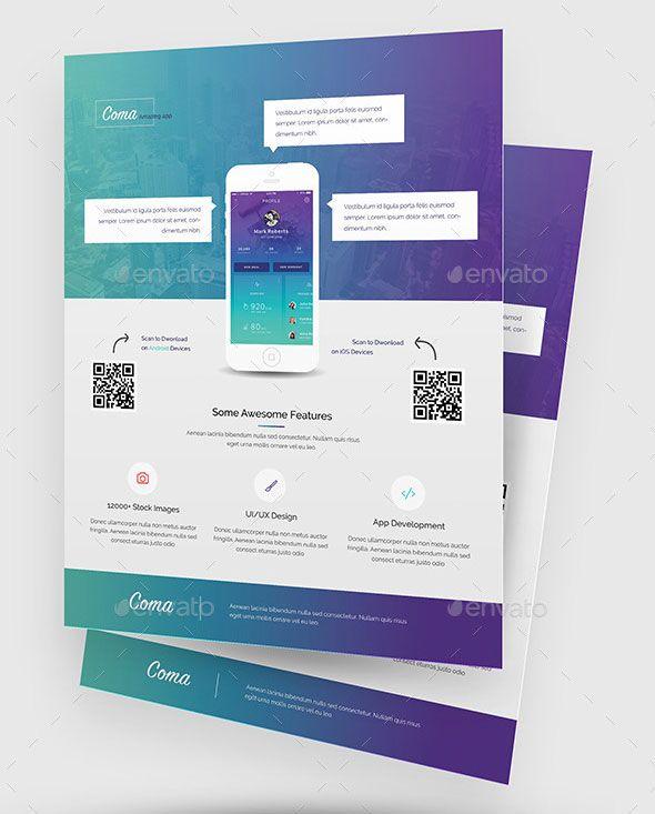 30 Effective Web  Mobile Apps Flyer PSD Templates Flyer template - promotional flyer designs