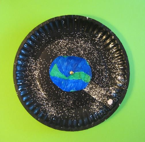 Paper plate Moon Orbit craft : paper plate moon - pezcame.com