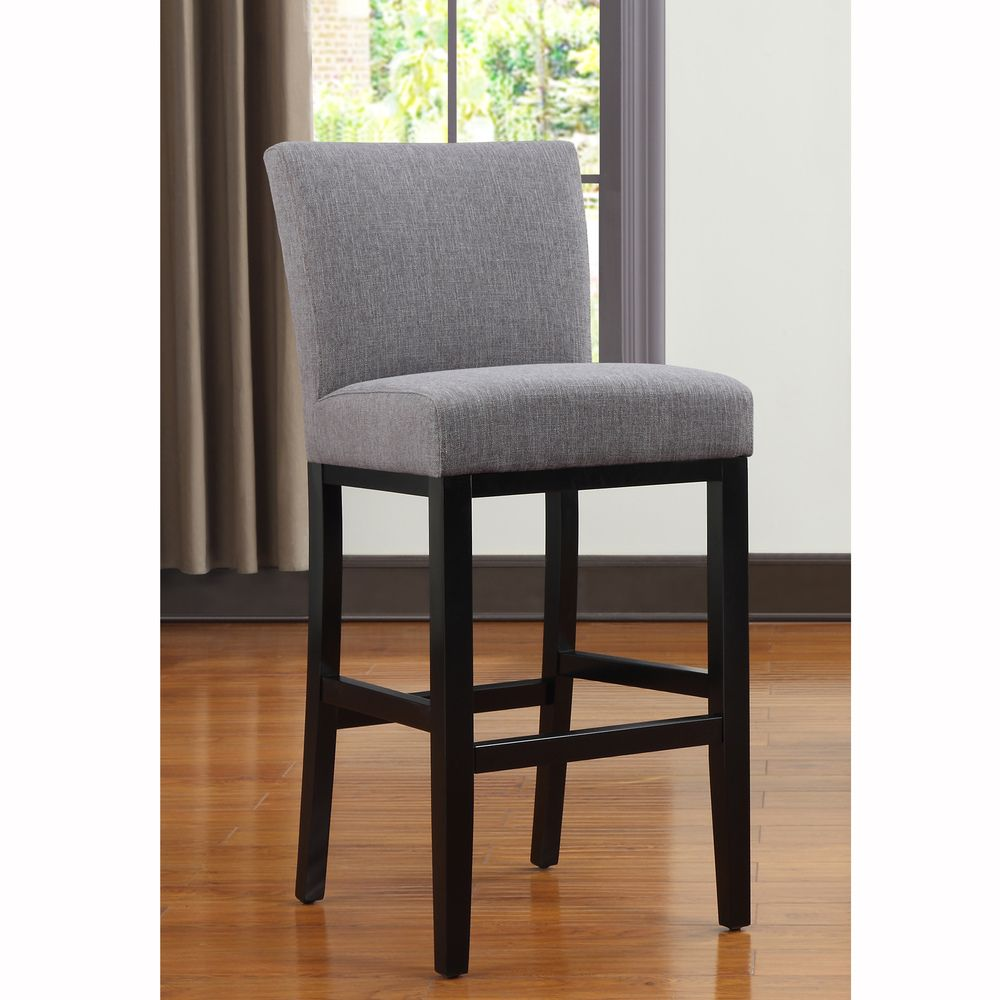 Grey Kitchen Bar Stools: Portfolio Orion Charcoal Gray Linen Upholstered 29-inch