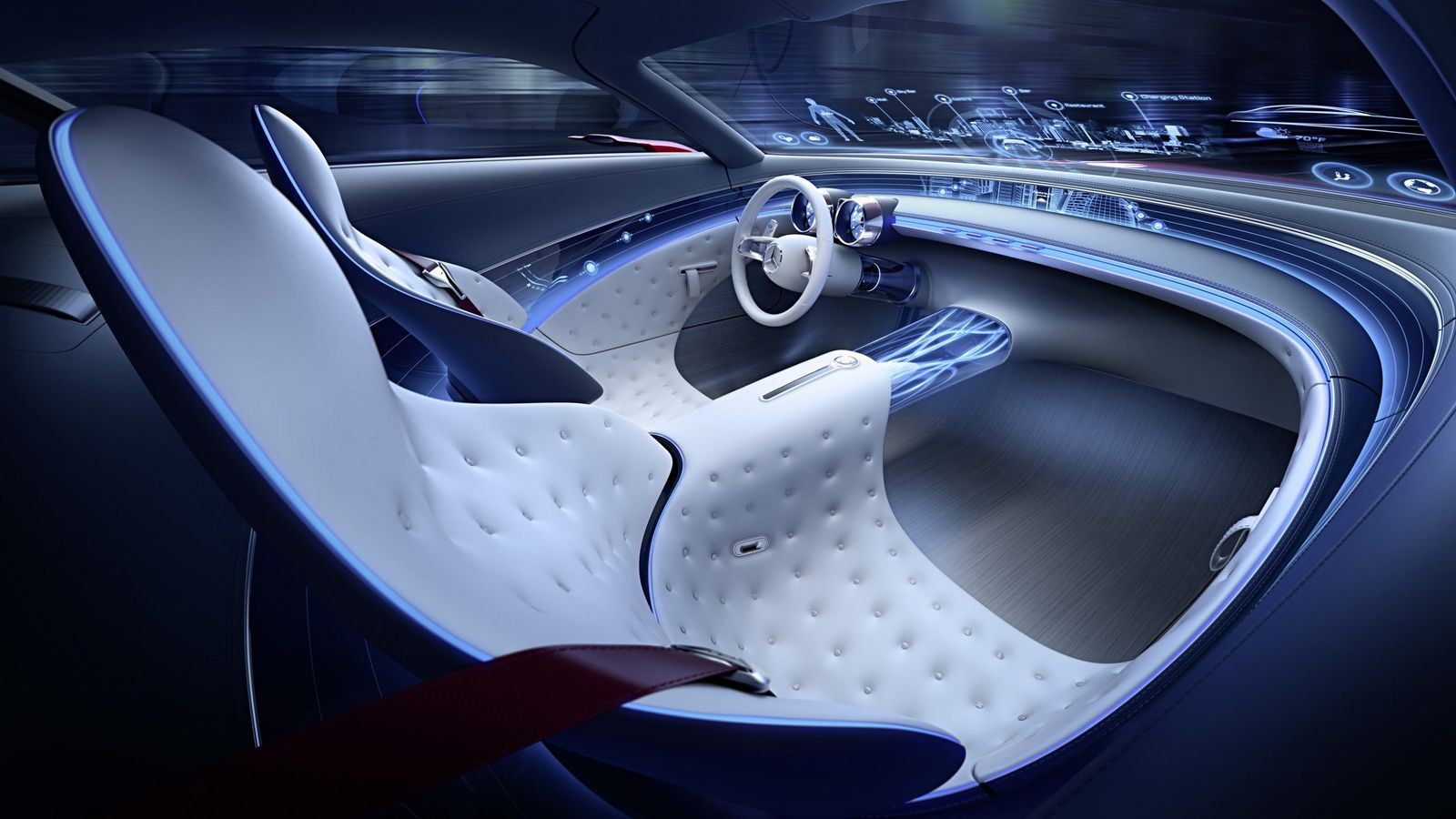 Mercedes Maybach Vision 6 Concept Breaks Cover Mercedes Benz Maybach Mercedes Maybach Concept Car Interior