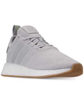 adidas Men's Nmd R2 Casual Sneakers from Finish Line - Gray 9 ...