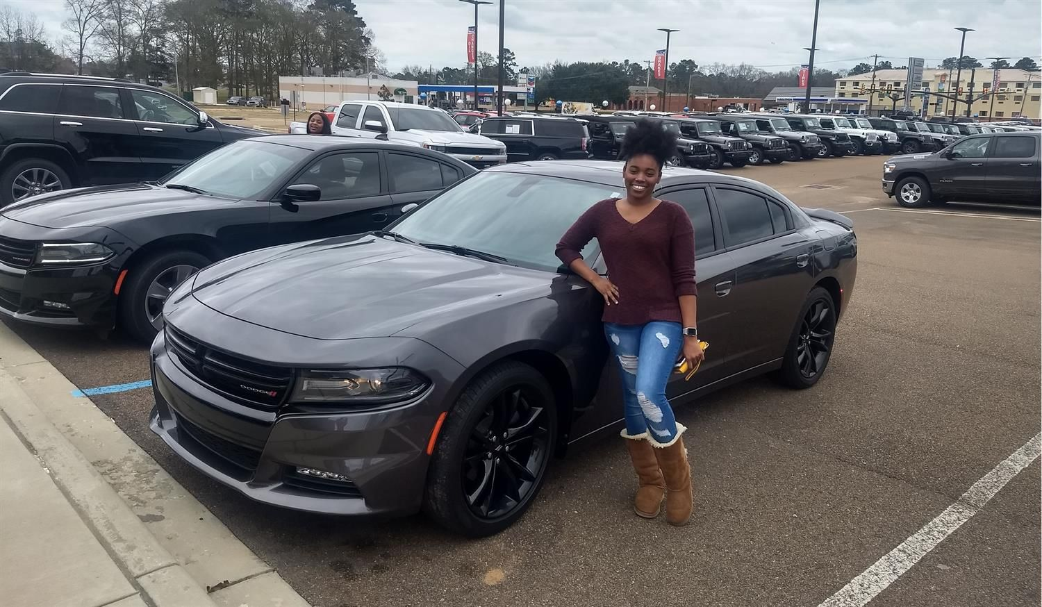 Daja S New 2017 Dodge Charger Congratulations And Best Wishes From Rainbow Chrysler Dodge Je Chrysler Dodge Jeep Dodge Charger Congratulations And Best Wishes