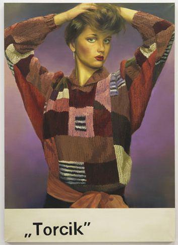 Paulina Olowska, Cake, 2010, Oil on canvas, 175 x 125 cm