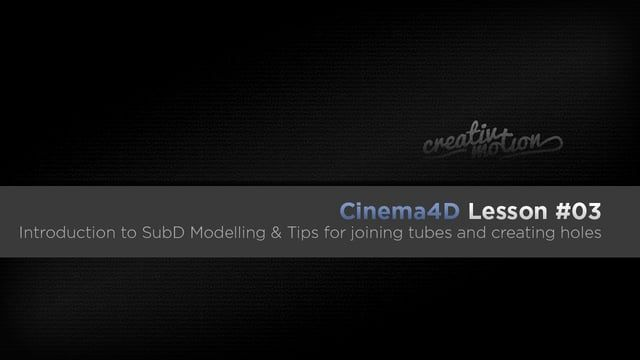 In this lesson I briefly go over the sub division surface and how it works together with a polygonal mesh. If you already have a understanding of how subD modelling works then you may want to jump to the section below. The second part: 7:09 - I cover a good technique for connecting tubes The third part: 13:30 - I cover how to create perfectly round holes on an area of the mesh  Check out my other tutorials and tips at www.creativmotion.co.uk Follow me on Twitter: twitter.com/creativ_mot...