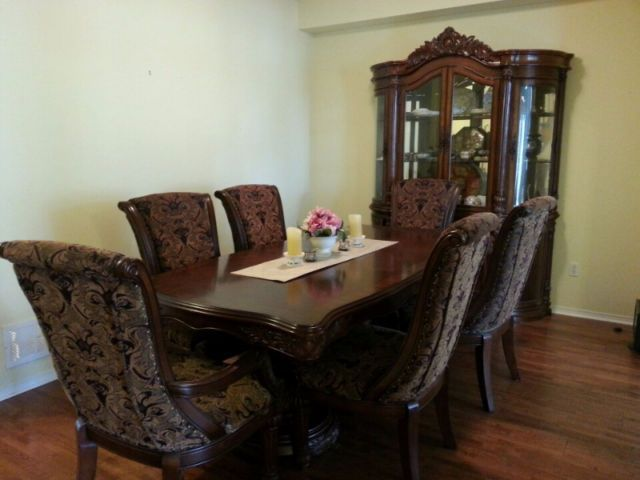Elegant Dining Set OBO - 6 chairs hutch / china cabinet | dining tables and : set a table oakville - pezcame.com