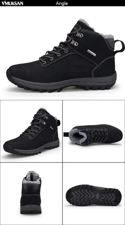 74c4a21f09 VMUKSAN Brand Men Boots Big Size 39-47 Men Winter Boots Lace-Up Casual