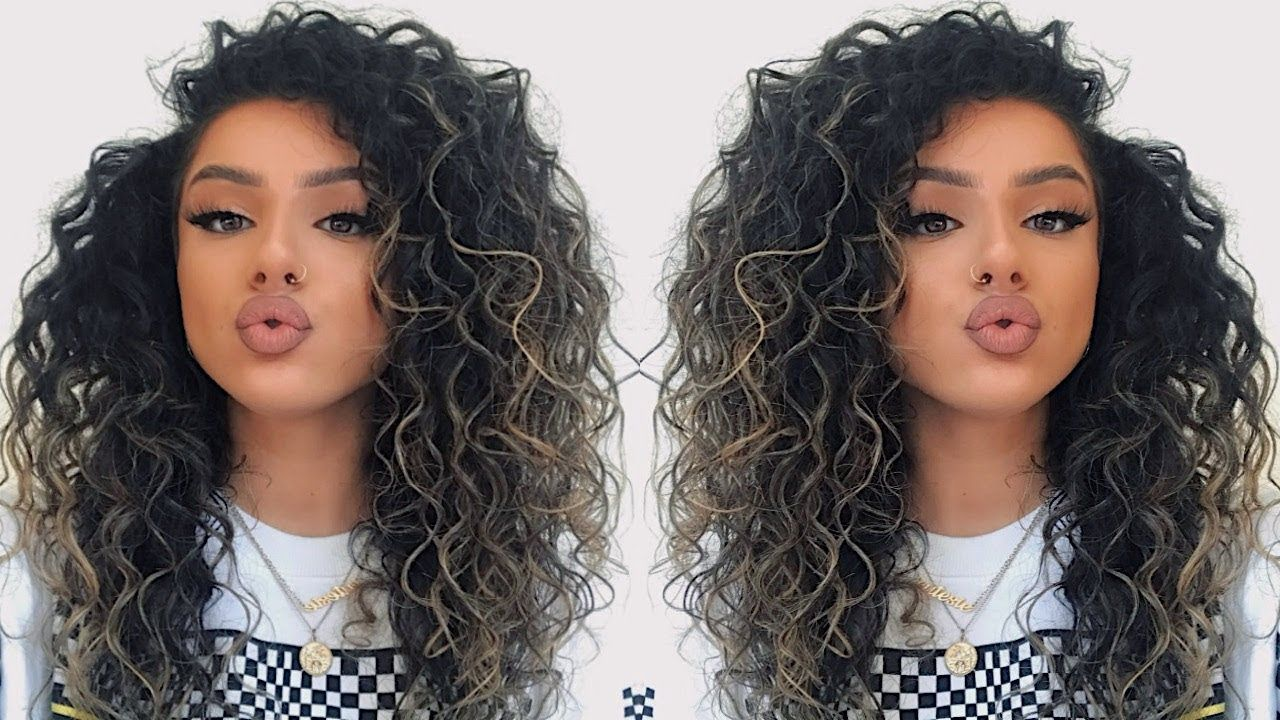Big Curly Hair Tutorial How To Make Your Hair Look Curlier Naturally 2019 Youtube Big Curly Hair Tutorial Curly Hair Tutorial Curly Hair Styles