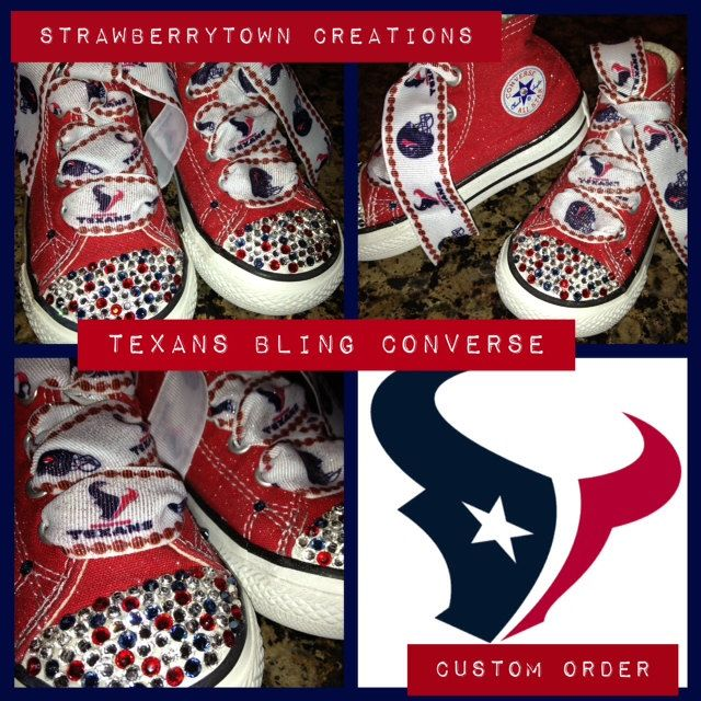 Custom Made Houston Texans Converse From STC Bling Shoes