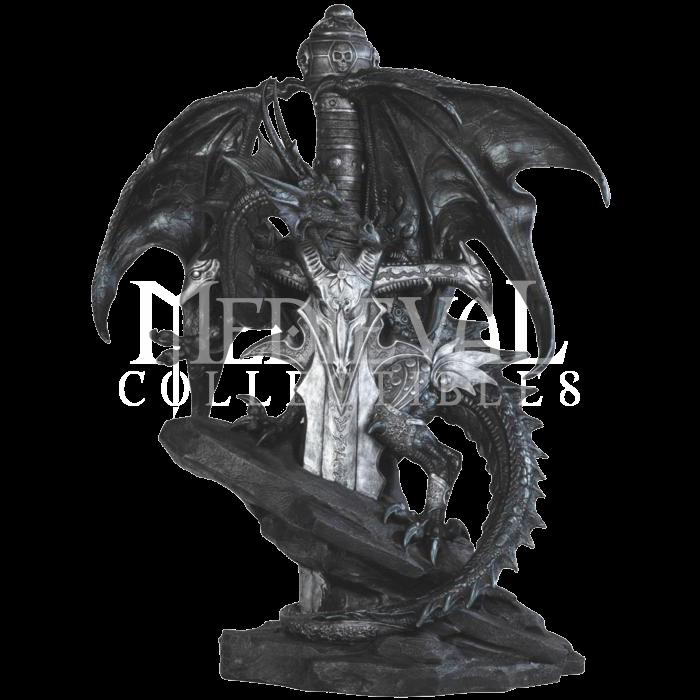 Black Dragon On Rune Sword Statue In 2019 Objets D Art