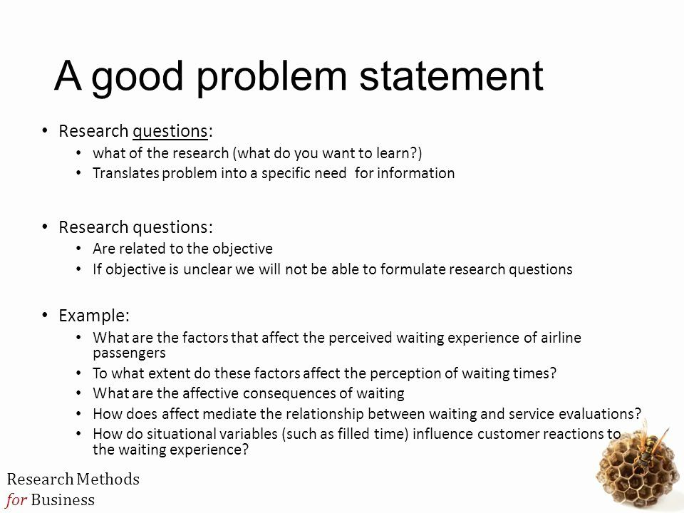 Problem Statement Example In Busines Elegant Mbb3724 Research Method Ppt Personal Mission Writing A Thesi How To Write For Paper