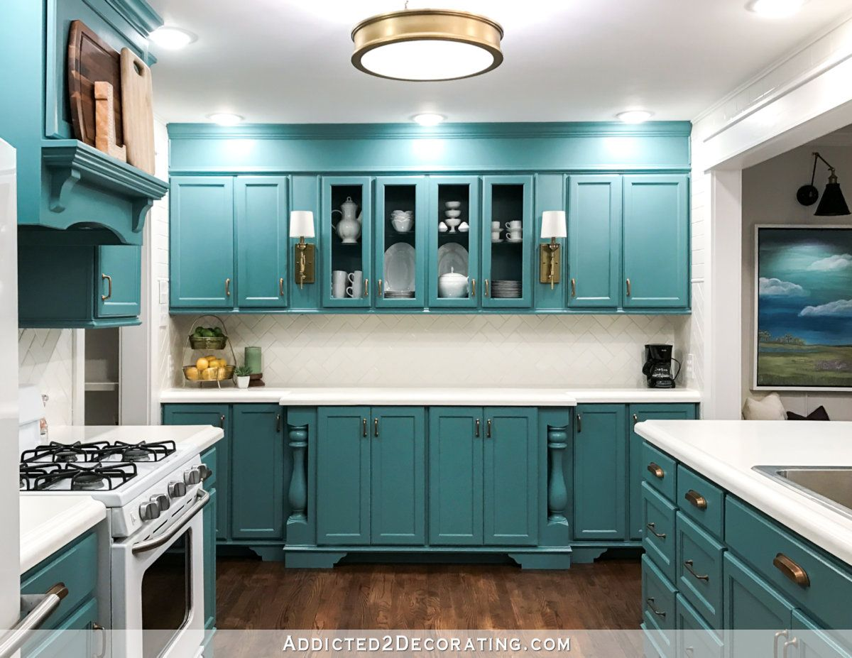 House Tour Addicted 2 Decorating Teal Cabinets Condo Kitchen House