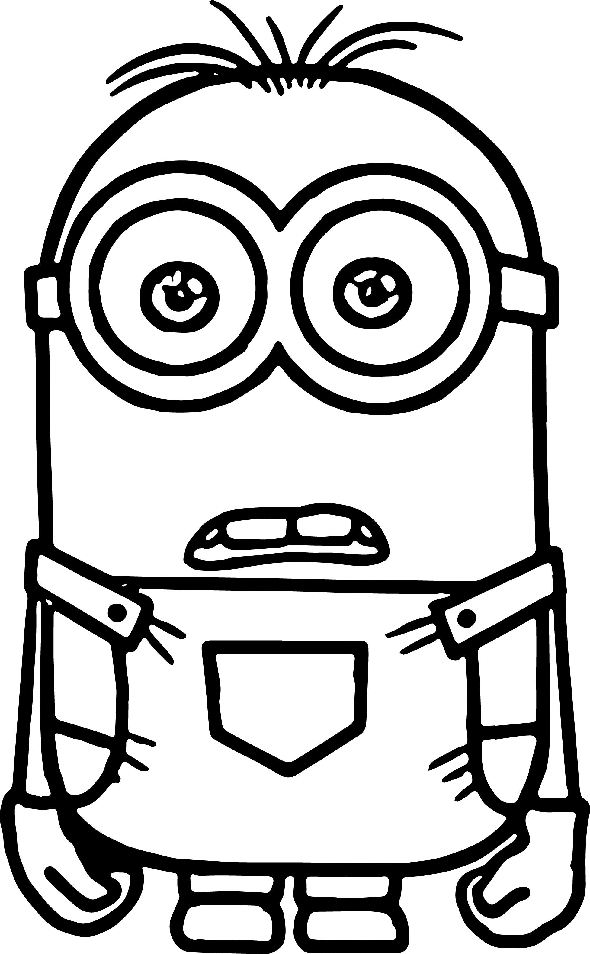 Minions Coloring Pages in 2018 | wecoloringpage | Pinterest | Minion ...