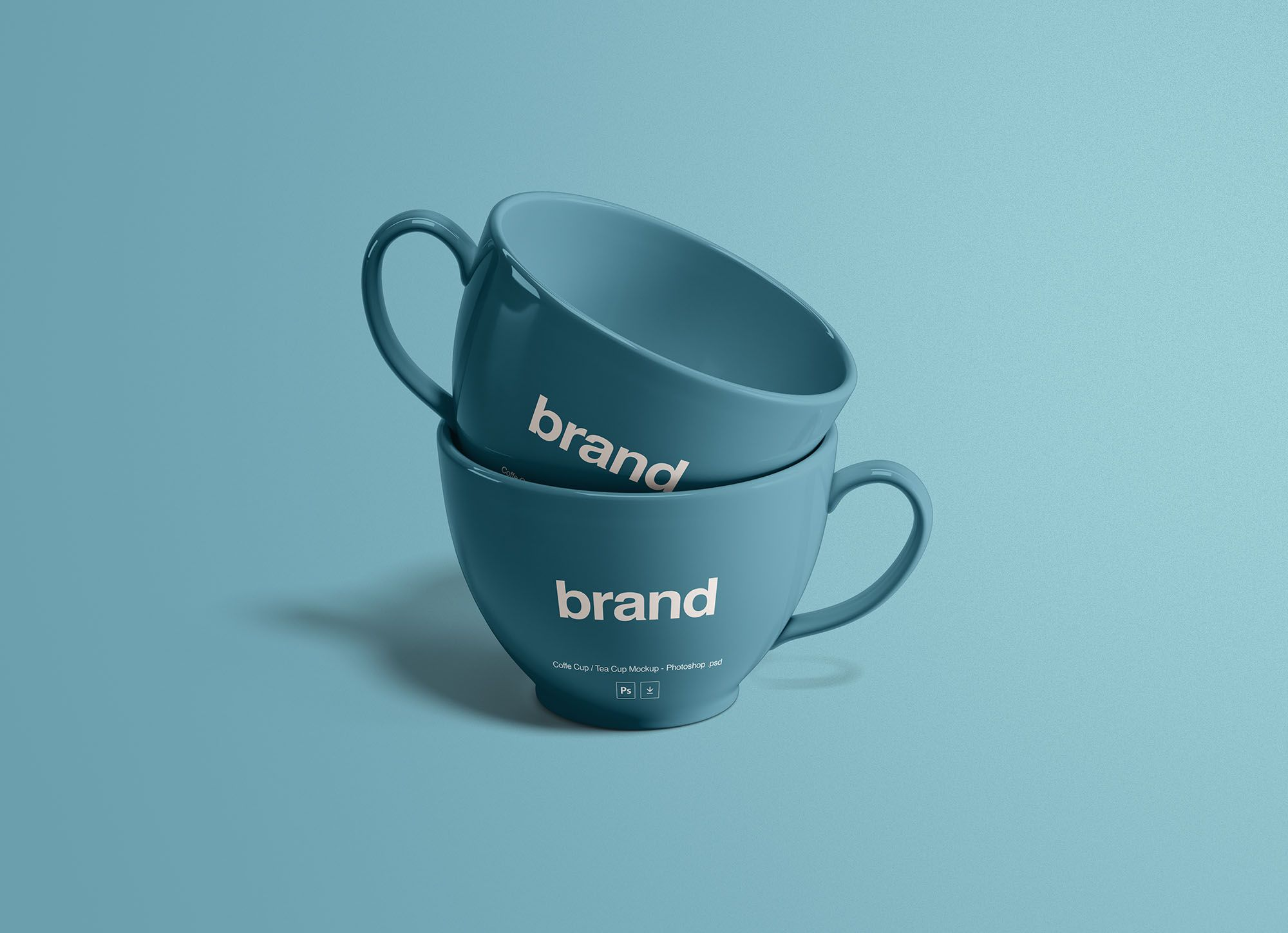 Tea Cups Mockup Tea Cups Mugs Mockup