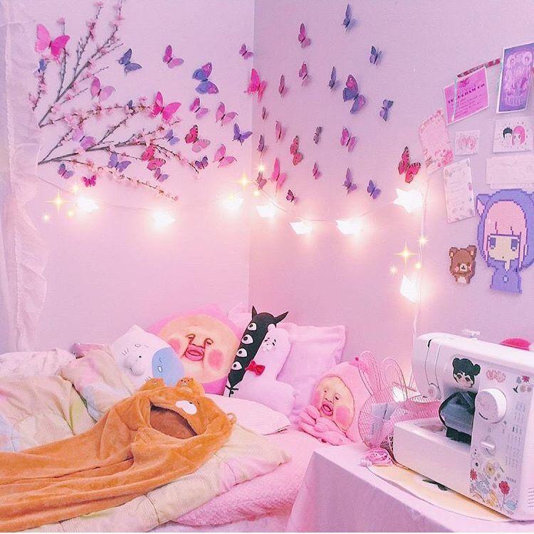 Nice 50 Kawaii Room Decor Ideas Https Decoratio Co 2017 04 50 Kawaii Room Decor Ideas You May Use Simple Items Like S Kawaii Room Kawaii Bedroom Otaku Room