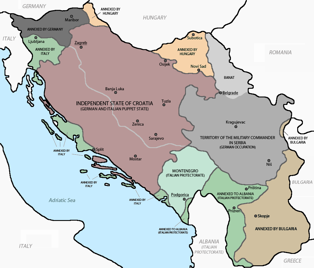 Axis Occupation And Partition Of Yugoslavia In World War II - Germany map timeline