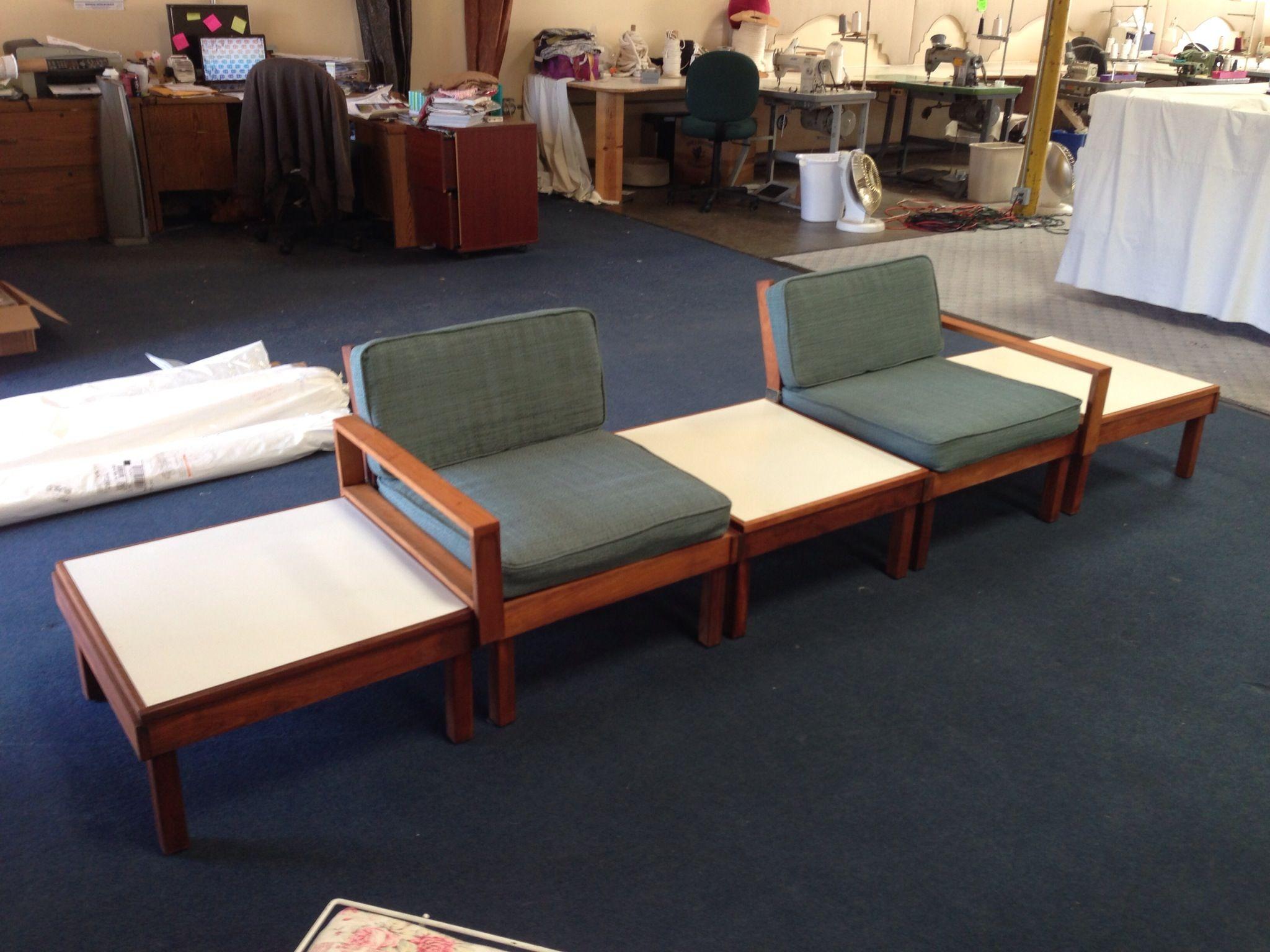Mid century Brown Saltman modular sofa