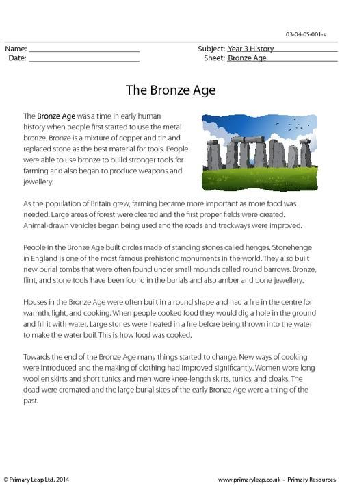 Worksheets Free Comprehension Worksheets For Grade 3 primaryleap co uk reading comprehension the iron age worksheet bronze worksheet