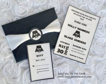 Image result for custom star wars wedding invitations ZM Wedding