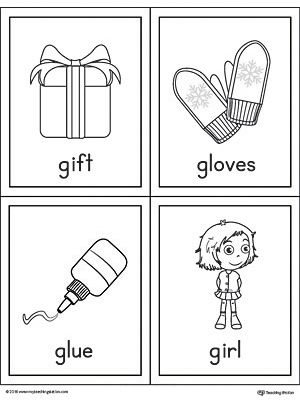 letter g words and pictures printable cards gift gloves glue girl alphabet worksheets g. Black Bedroom Furniture Sets. Home Design Ideas