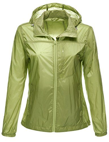 Luna Flower Women's Packable Water Resistant Lightweight Rain Wind ...
