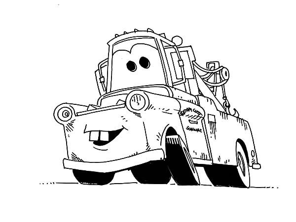 Mater Tow Coloring Pages