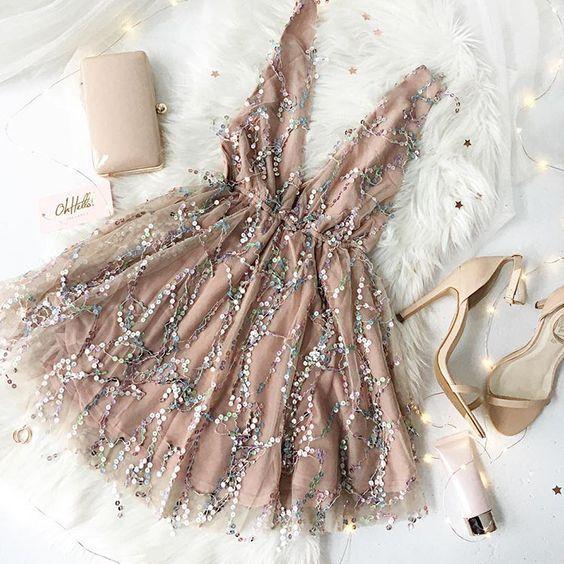 Charmante hellrosa lange Ballkleider, Reverseble Sequin Stoff in verschiedenen Farben, Partykleider, Kleider, Abendkleider, von HotProm   - Prom dresses -
