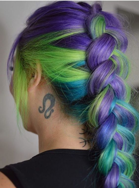 vibrant hair colors short hair vibrant hair color ideas for braids with long always give charm to every bride in 2017 2018 check out these vibrant ombre shades best 52 braids hair color ideas 20172018