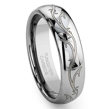 Tungsten Carbide Laser Engraved Vine Celtic Irish Wedding Band Ring Wedding Ring Bands Irish Wedding Bands Fashion Rings