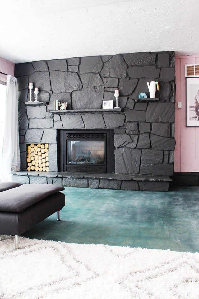 Give An Old Fireplace New Life With A Modern Coat Of Paint Update