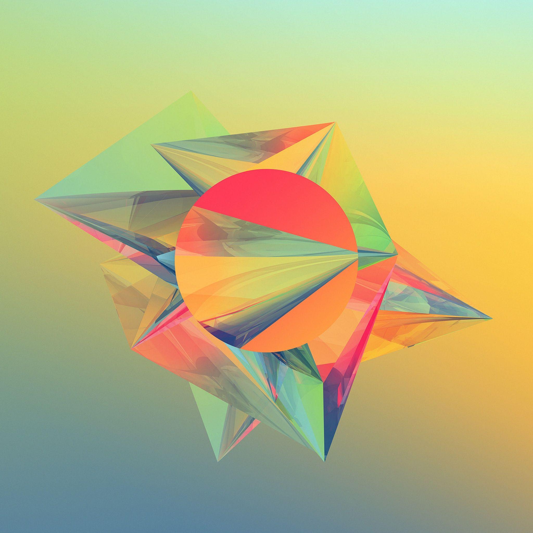 Geometric Abstract Shapes IPad Air Wallpaper