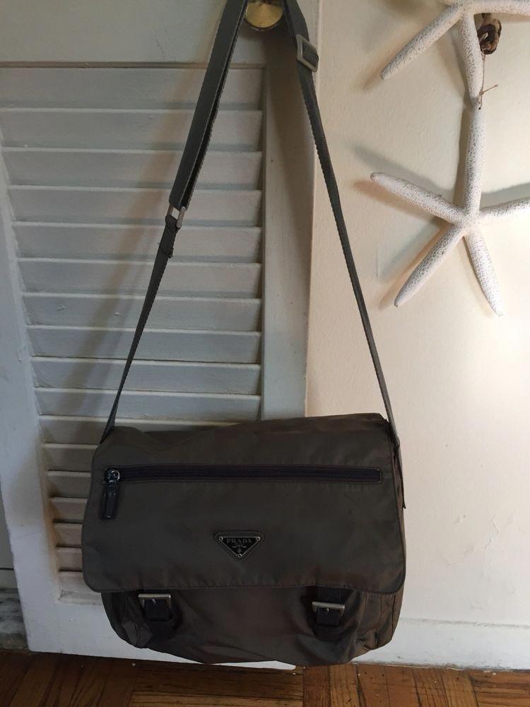 f9a7c93976e9 Prada Vela Nylon Messenger Crossbody Tote Shoulder Bag@ebay @pinterest  #guccigang #canvas #prada #shoulder #leatherhandbag #Pradahandbags