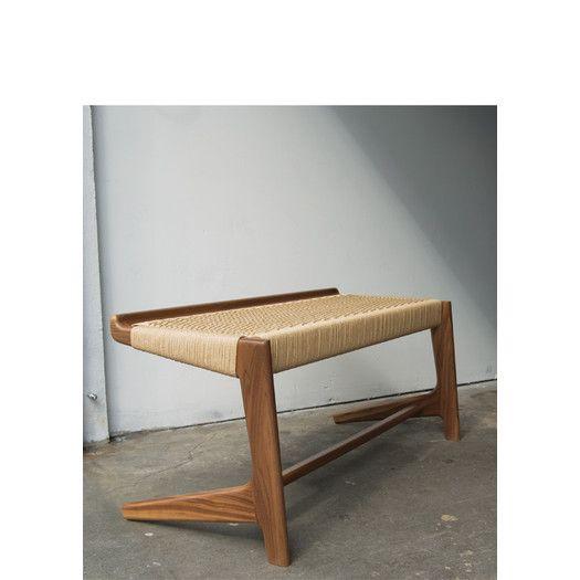 Semigood Design Rian Wooden Cantilever Bench   AllModern