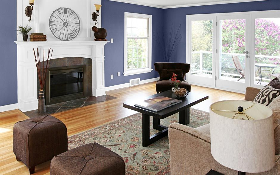 Living Room Paint Colors Pictures glidden® creamy blueberry | addition | pinterest | living room