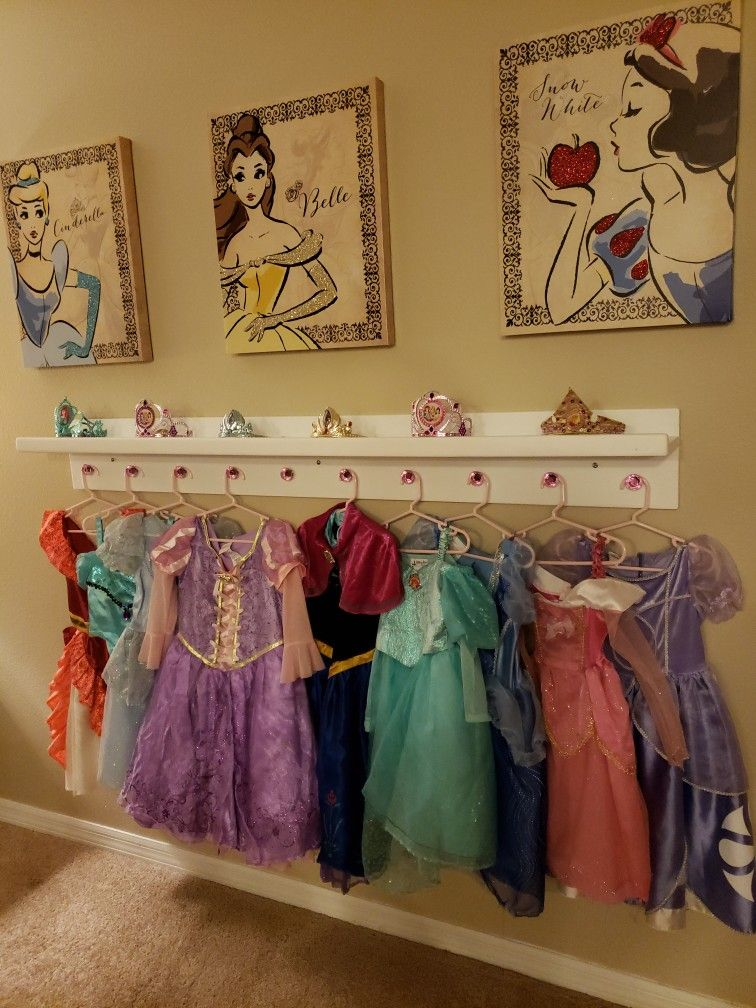 My Girls Diy Disney Princess Dress Up Area Still Building The