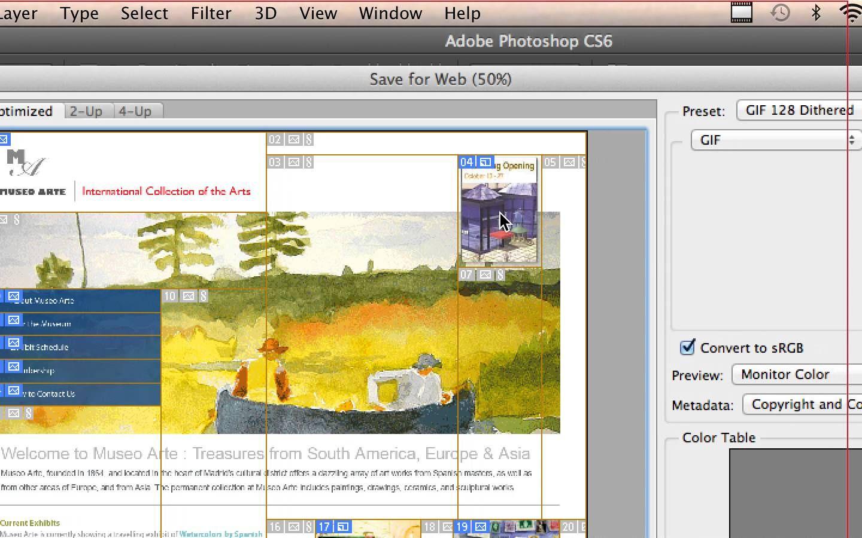 CS6 Preparing Files for the Web (13B