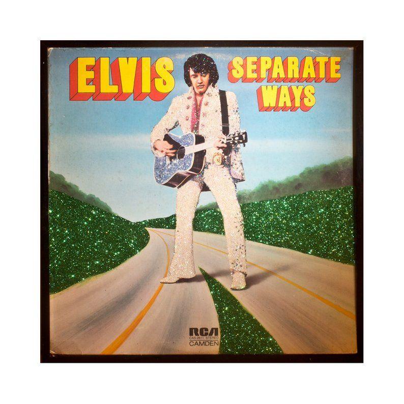 Glittered Elvis Presley Separate Ways Album Cover Art Etsy In 2021 Album Cover Art Album Covers Album Art