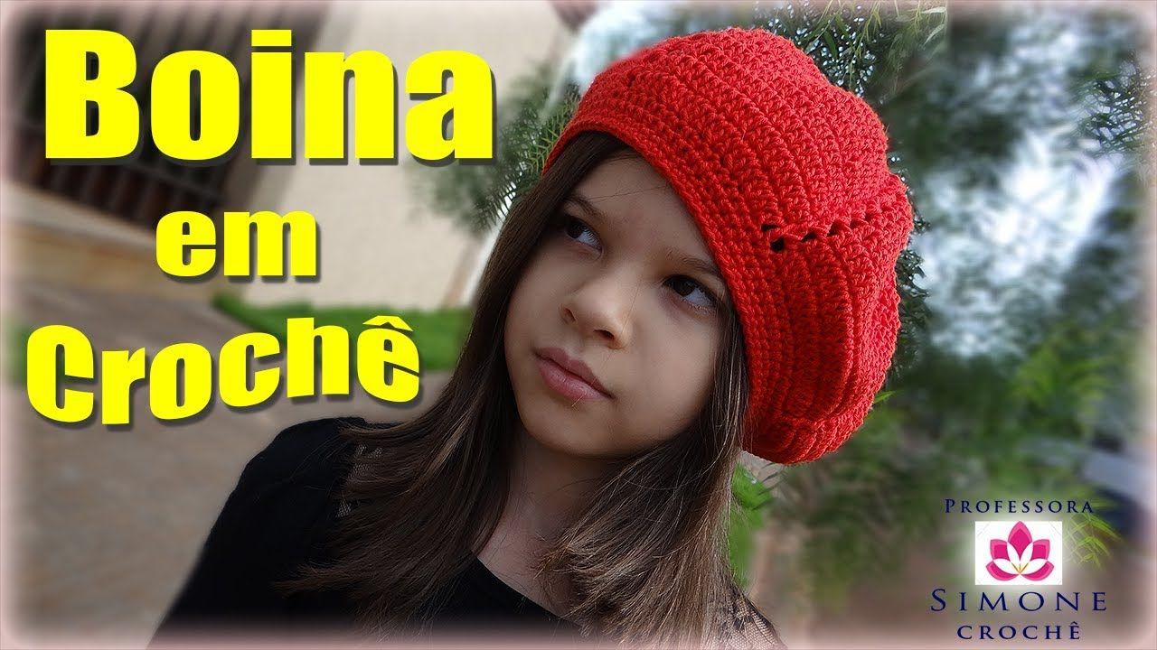 Passo a passo Boina infantil em Crochê Duna - Professora Simone  08803dd864c