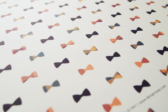 mustache and bow printable gift wrap by Design is Yay!  gift