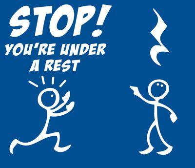 Shirtaday Stop You Re Under A Rest T Shirt Music Jokes Musician Humor Musician Jokes
