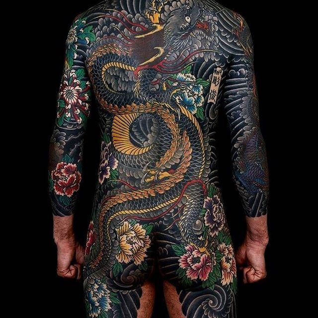Japanese Bodysuit Tattoo By Horitoshi1 Japaneseink border=