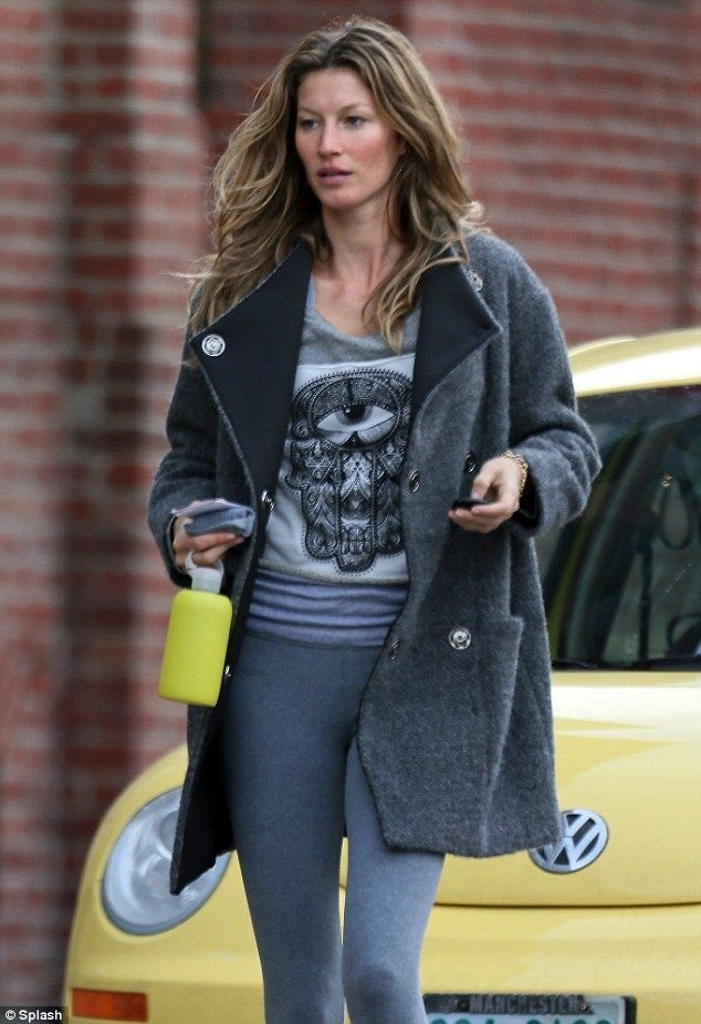 397a2e28b92 Au naturel  Gisele Bundchen was seen visiting the gym in Boston on ...