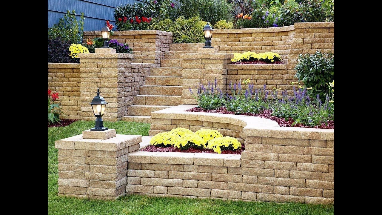 Retaining Wall Design Ideas For Landscaping Youtube Within Garden Retaining Wall Ideas Garden Retaining Wall Stone Walls Garden Backyard Retaining Walls