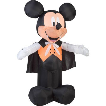 Gemmy Airblown Inflatable 5\u0027 X 35\u0027 Mickey Mouse Vampire Halloween - halloween decorations at walmart