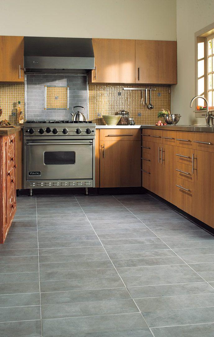 Atlanta Home Improvement 0214 Grey Kitchen Floor Grey Kitchen