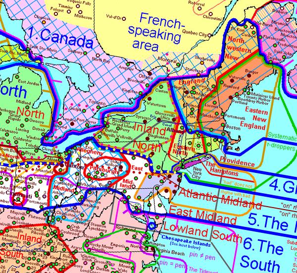 Pecan Caramel Crawfish Food Dialect Maps Karamell Hälsa Och - Us pronunciation map