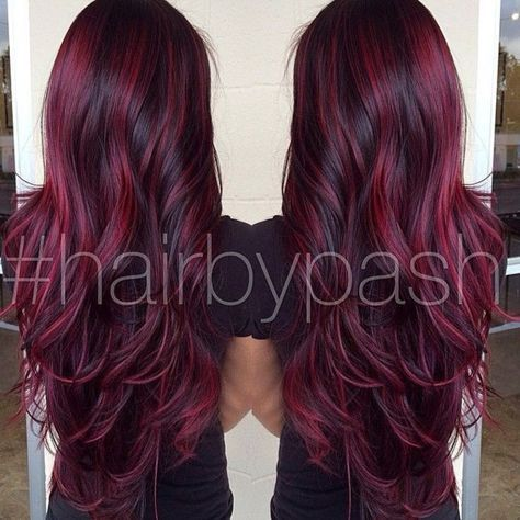 Burgundy highlights ombre purple 01 pinterest low burgundy highlights pmusecretfo Choice Image