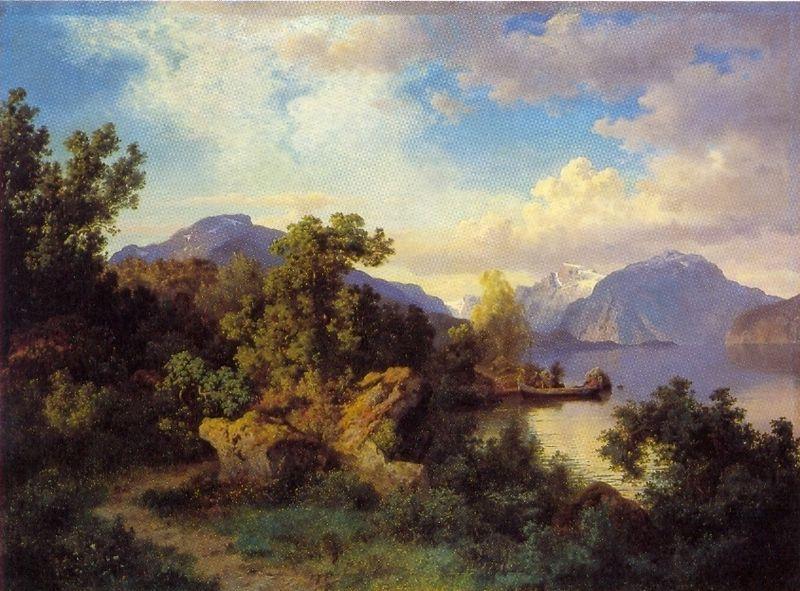 Hans Fredrik Gude 1825 1903 Pintor Noruegues 13 Med Bilder Maleri Bilder Gard