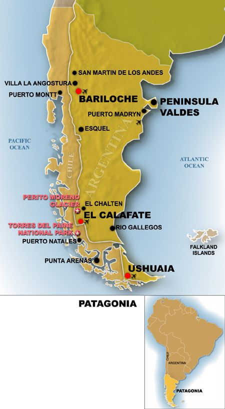 map of patagonia chile Patagonia Map Argentina Travel Guide Patagonia Travel Guide map of patagonia chile