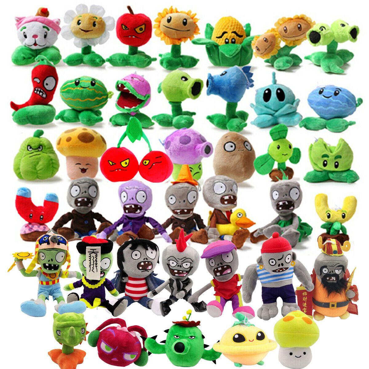 Plants vs Zombies 2 PVZ Figures Plush Baby Staff Toy Stuffed Soft Doll 13-35CM@!