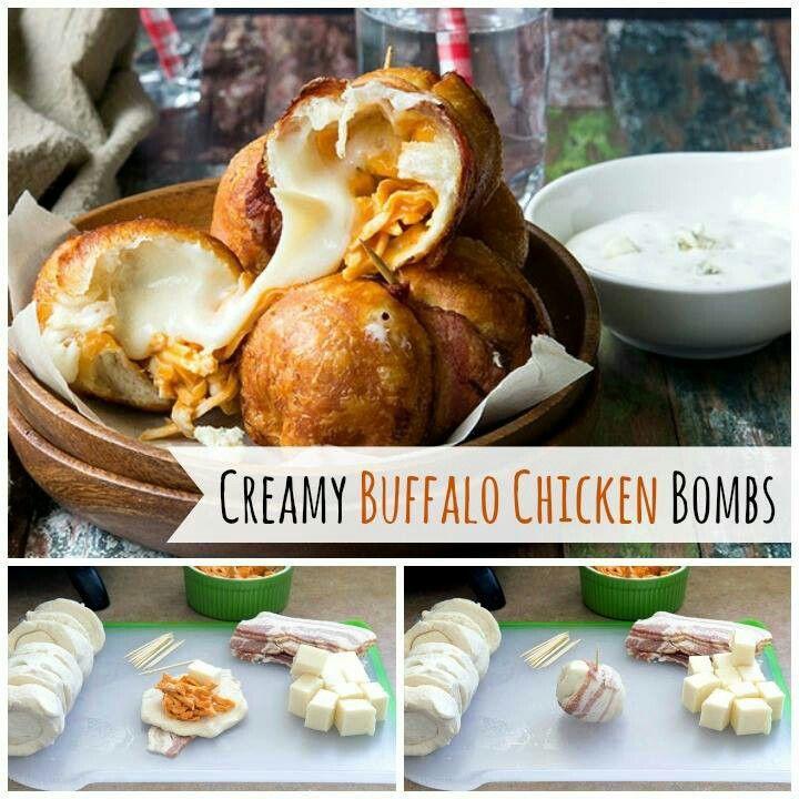 Creamy Buffalo Chicken Bombs